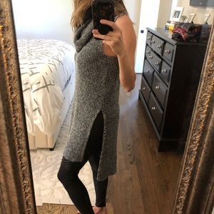 Express sleeveless cowl neck sweater.